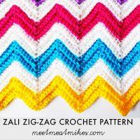 Zali Zig Zag Chevron Blanket - Free Pattern Friday