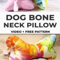 Dog Bone Neck Pillow - Link Party 393
