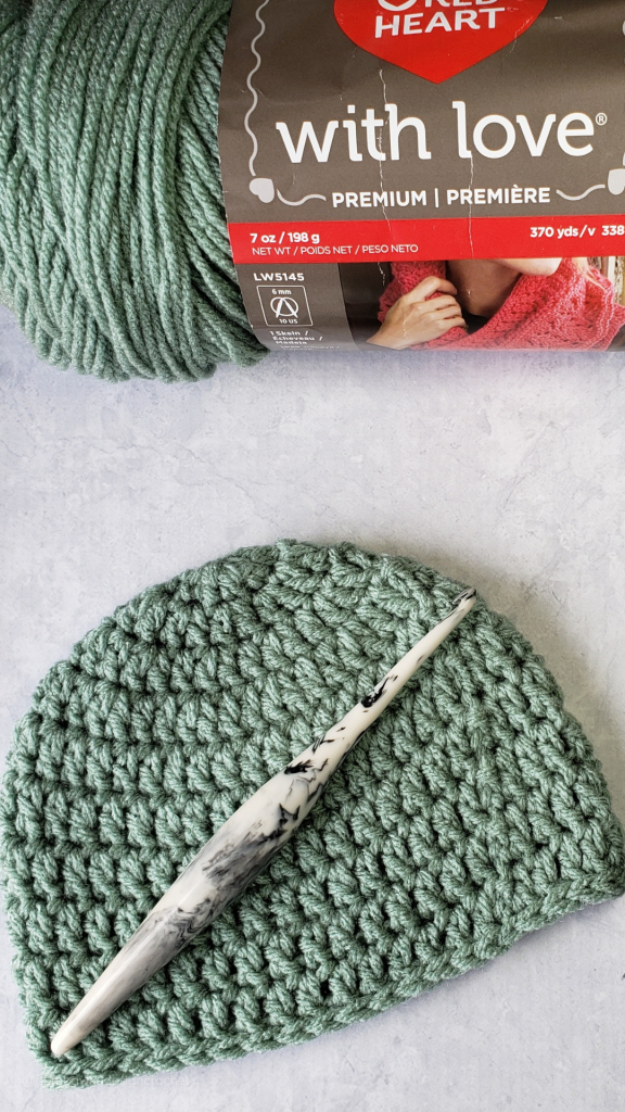 0-3 Months Crochet Baby Hat Pattern and Video - PIN - @oombawkadesigncrochet