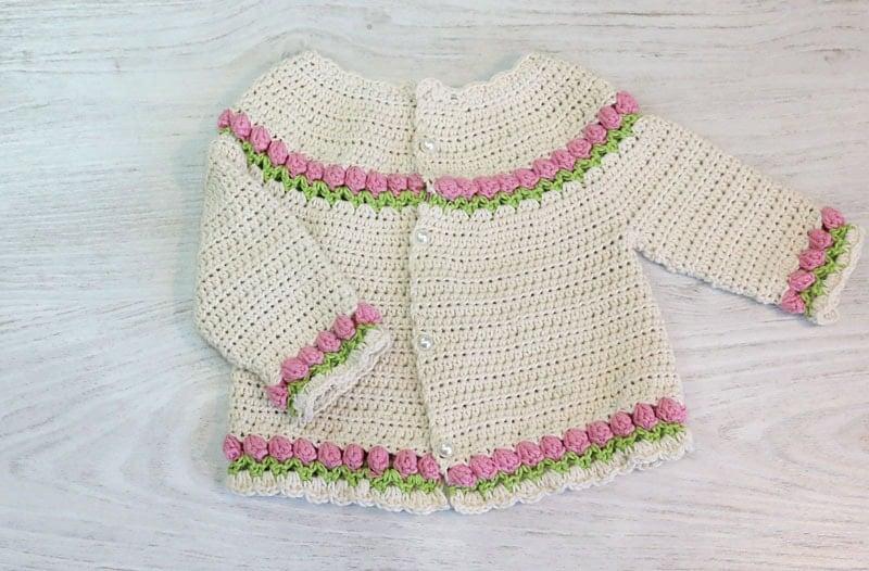 Baby Tulips Cardigan - Free Pattern Friday