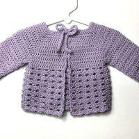 Black Raspberry Baby Sweater - Free Pattern Friday