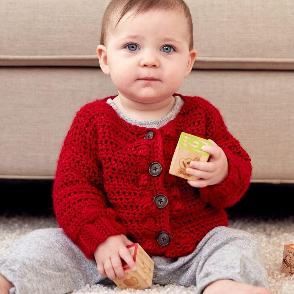 Bobbly Baby Cardigan - Free Pattern Friday