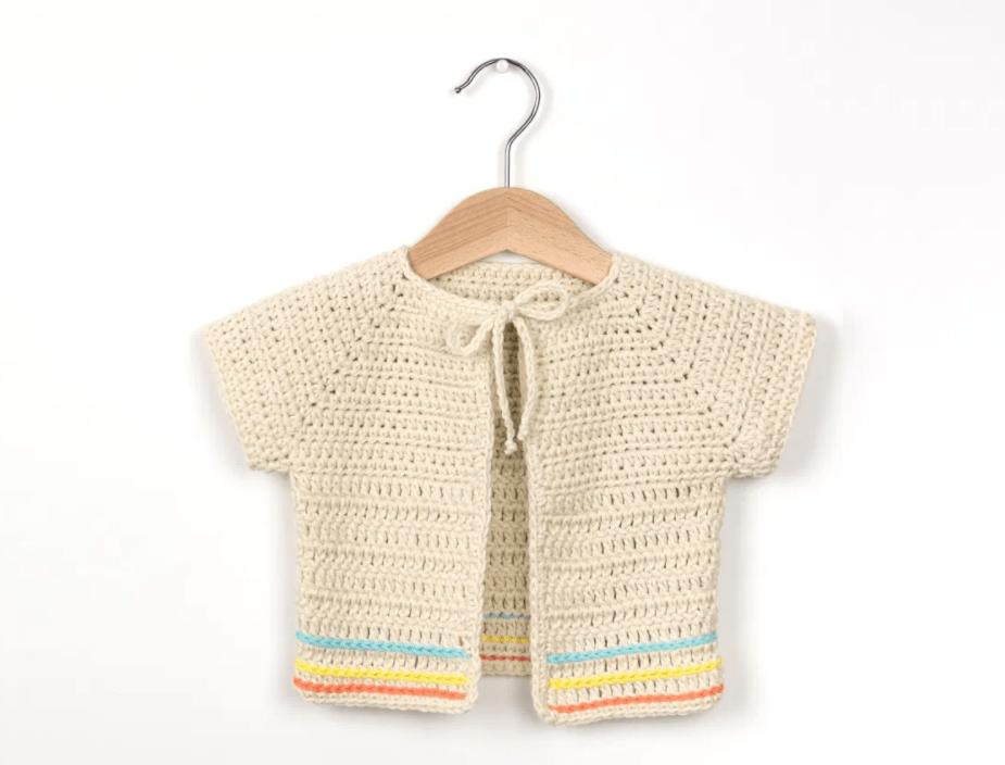 Boho Baby Cardigan - Free Pattern Friday