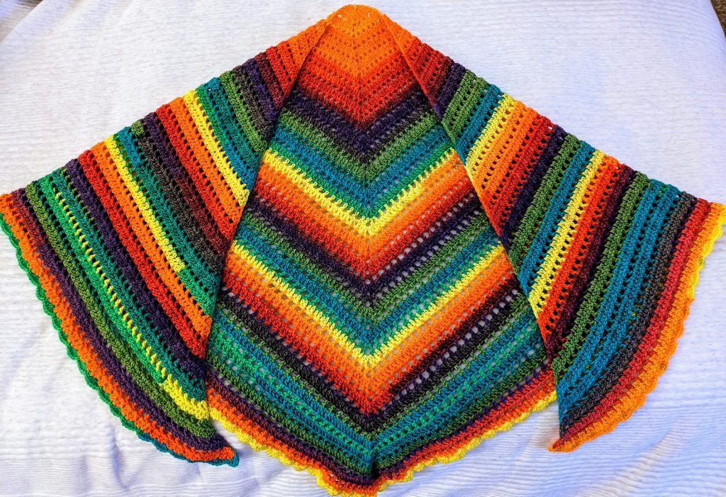 Brighter Days Ahead Shawl - Pattern Tested - Clair415
