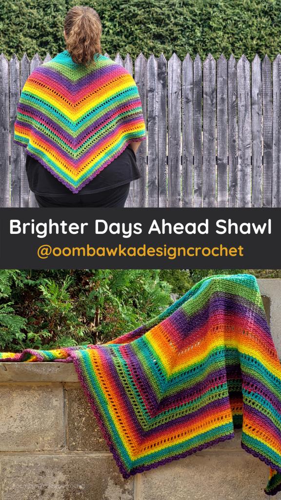 Brighter Days Ahead Shawl Pattern - Oombawka Design Crochet