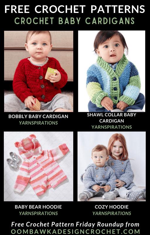 Crochet Baby Cardigan Patterns Free Pattern Friday