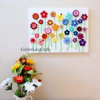 Crochet Flower Art - Link Party 399