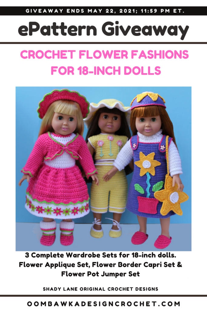 Crochet Flower Fashions for 18-Inch Dolls - Shady Lane Pattern - Review