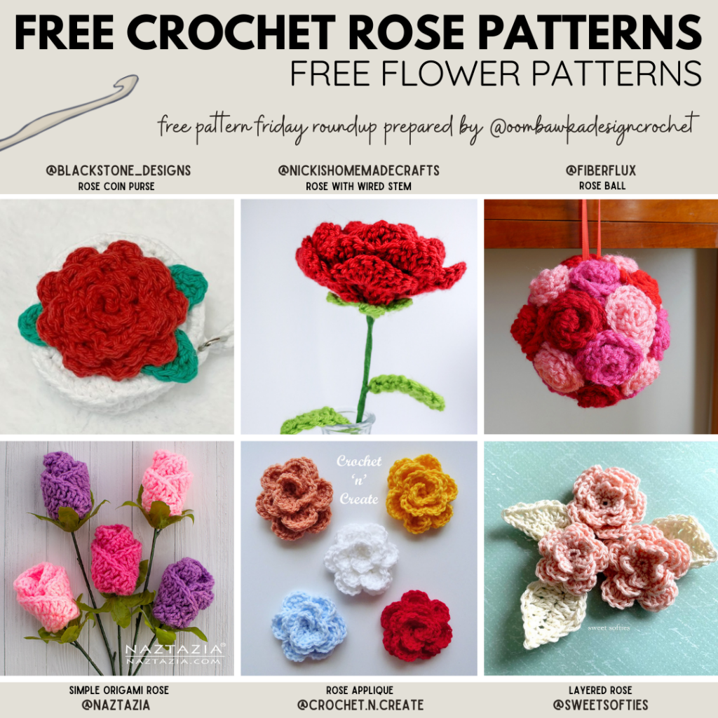 Crochet Rose Patterns Free Pattern Friday #crochet