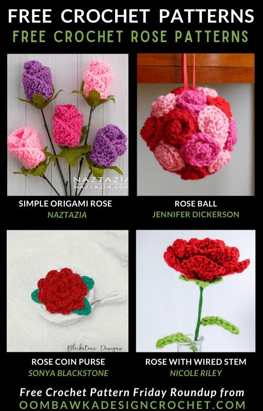 Crochet Rose Patterns Free Pattern Friday