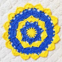 Featured at Wednesday Link Party 400 - Blooming Flower Doily
