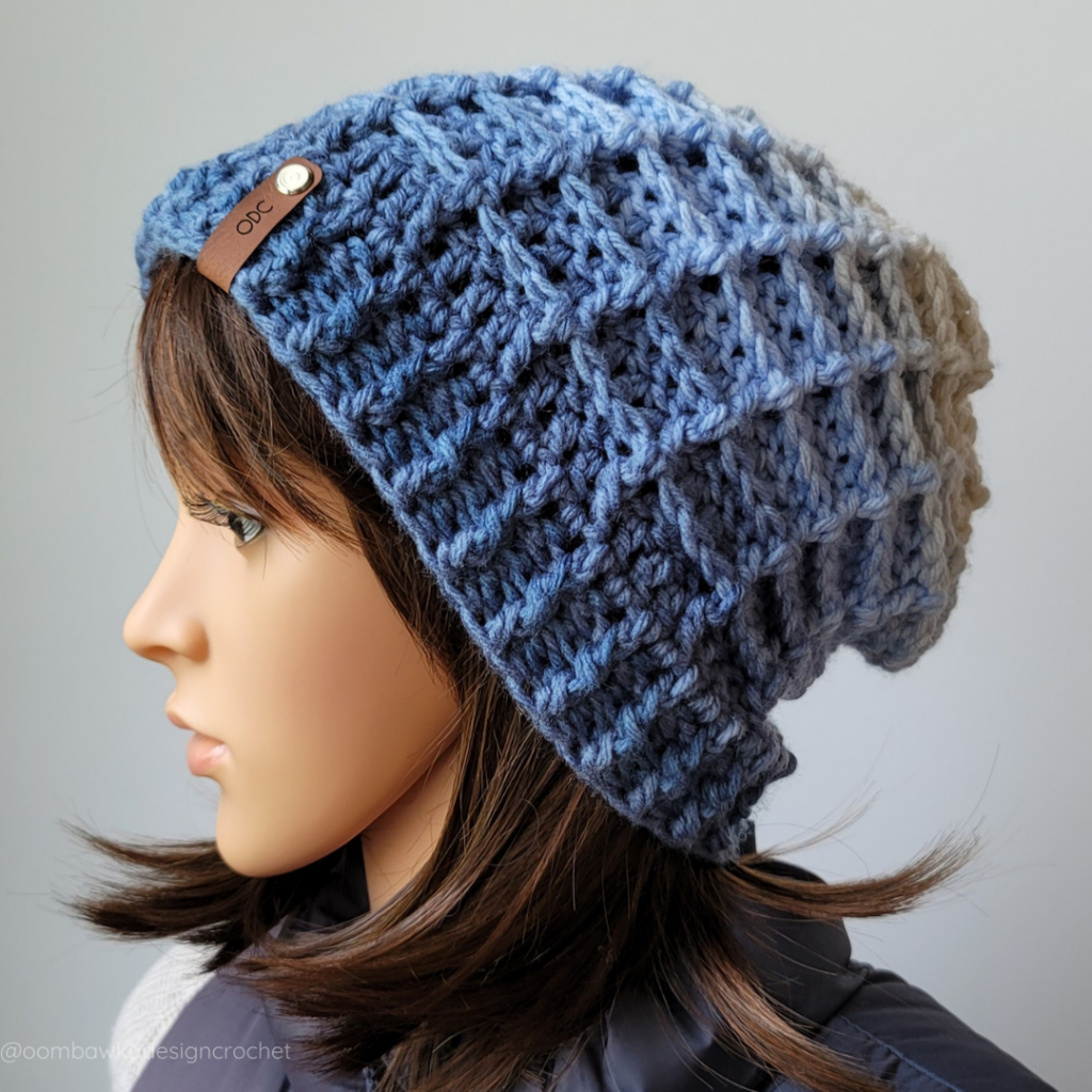 Just Another Day Waffle Stitch Hat and Scarf Set