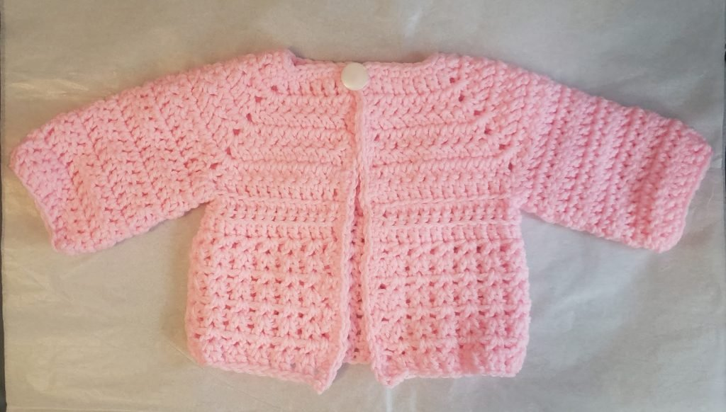 Kelly's Surprise Baby Cardigan - Free Pattern Friday