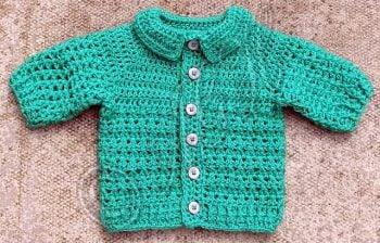 Lightweight Baby Boy's Cardigan - Free Pattern Friday