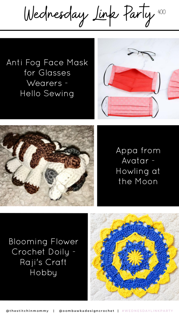 Link Party 400 - Face Mask - Appa from Avatar - Blooming Flower Doily
