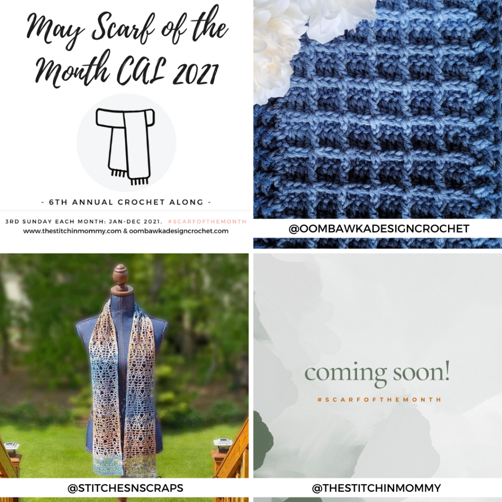 May Scarf of the Month CAL 2021 grid
