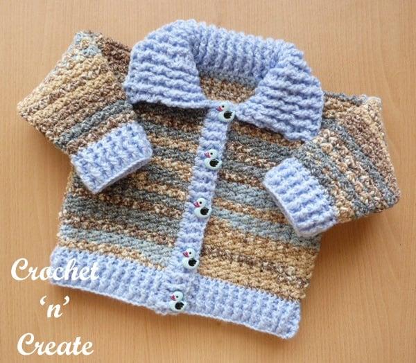 Ribbed Cardigan Baby Crochet Pattern - Free Pattern Friday
