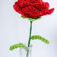 Rose with Stem - Free Pattern Friday