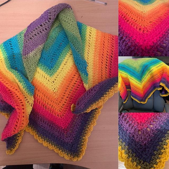 Brighter Days Ahead Rainbow Triangle Shawl - Scaine1 Pattern Test