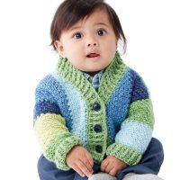 Shawl Collar Baby Cardigan - Free Pattern Friday