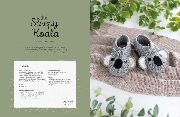 Sleep Koala - Crochet Animal Slippers - Book Review