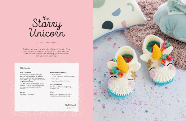 Starry Unicorn - Crochet Animal Slippers - Book Review