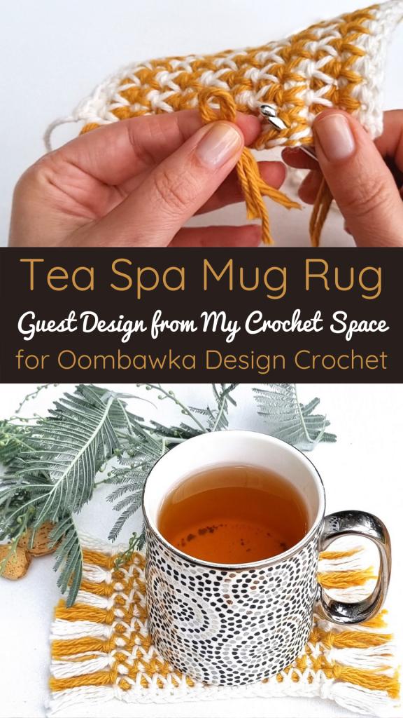 Tea Spa Mug Rug Guest Design - PIN - MyCrochetSpace