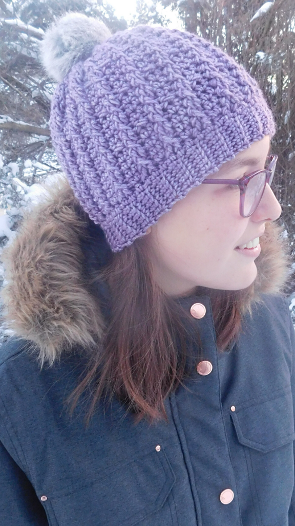 Trinity Cabled Hat Pattern - Guest Design from ACCROchet for @oombawkadesigncrochet. Free Crochet Beanie Pattern. Yarn: Medium Weight Yarn [4]; Hook: 5 mm (H). Pattern is available in 3 sizes. #crochetpattern #crochethat #guestpost #accrochet #guestpost #beaniepattern