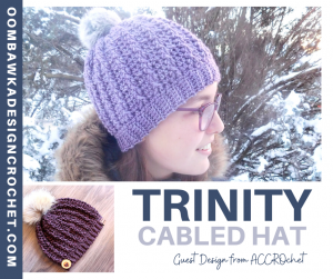 Trinity Cabled Hat Pattern - Guest Design