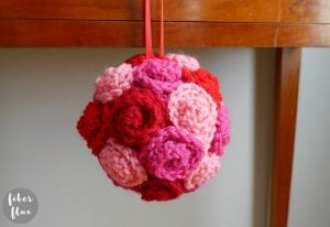 Valentine Rose Ball - Free Pattern Friday