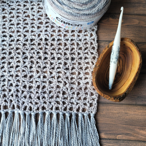 2021 Ready or Not Scarf - Lacy Crochet Scarf