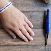 Free Pattern: Scrap Yarn Summer Bracelet