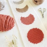 Autumn Moon Phase Wall Hanging Pattern