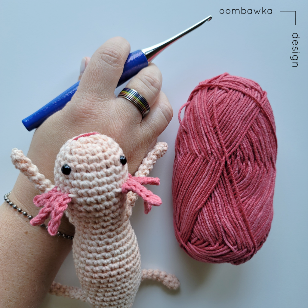 Axolotl Crochet Pattern - Free Amigurumi - OombawkaDesign