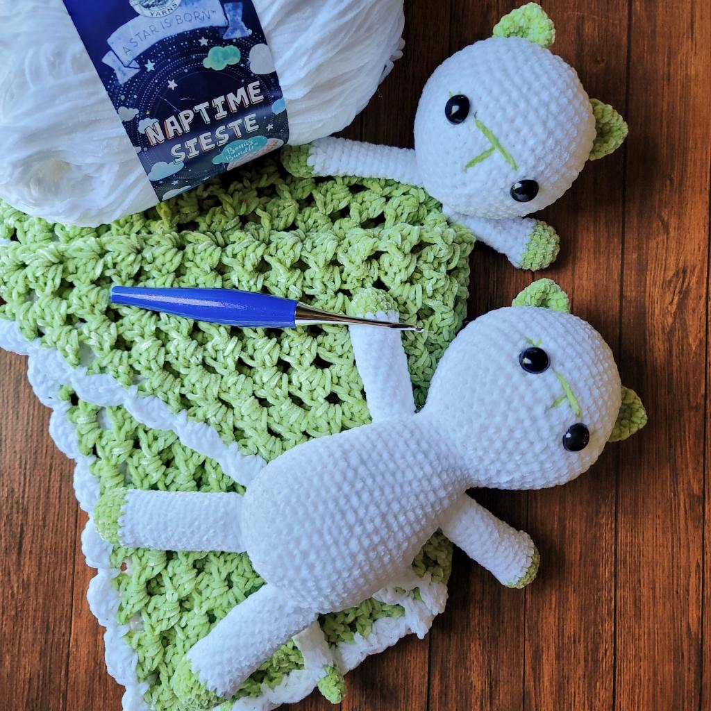 Kitten Baby Lovey Crochet Blankie Pattern