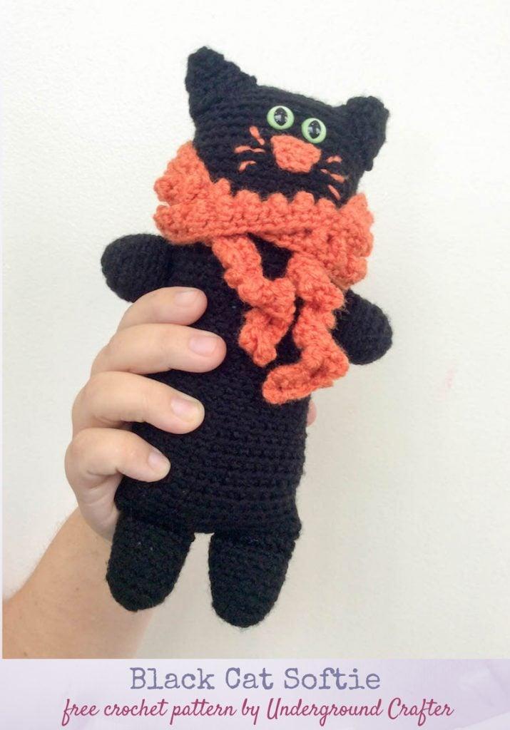 Black Cat Softie - Free Pattern Friday