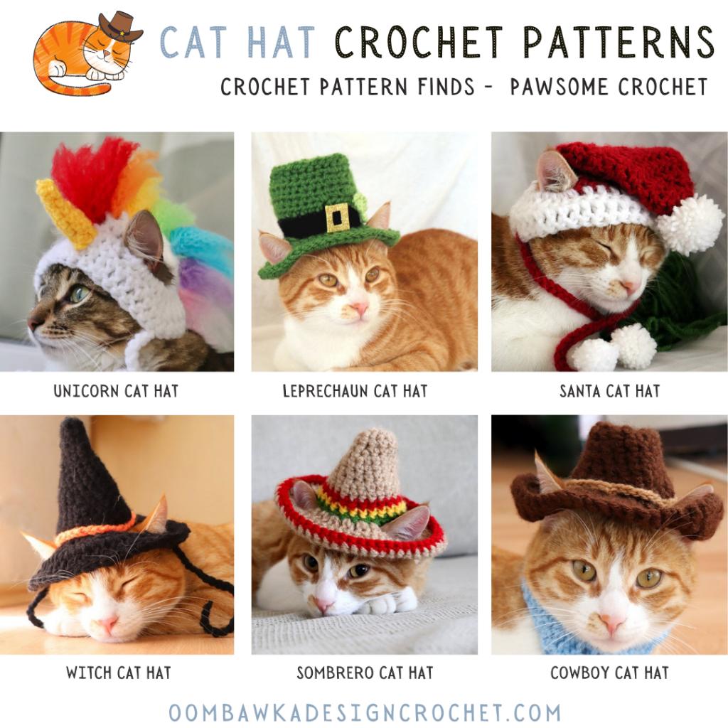 Cat Hat Crochet Patterns - crochet pattern finds June 2021