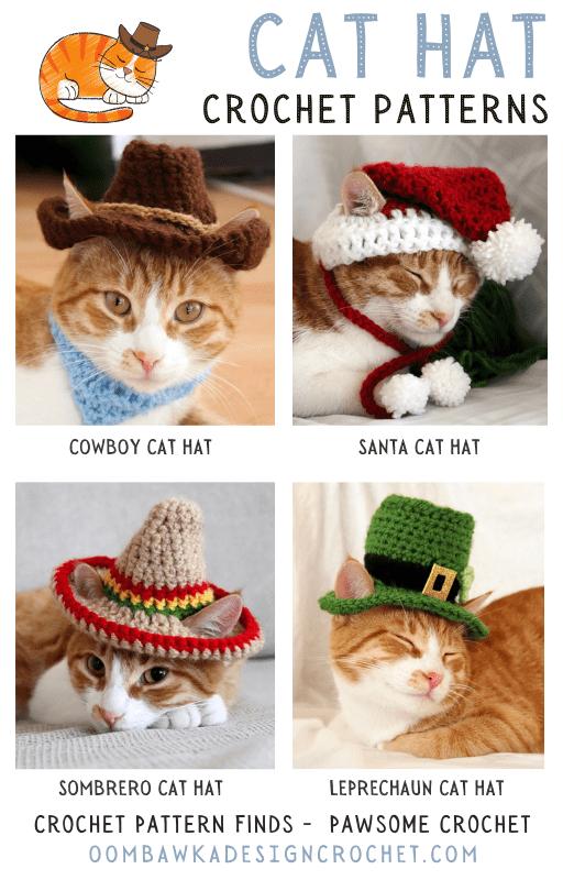 Cat Hat Crochet Patterns - crochet pattern finds