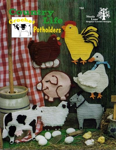 Country Life Potholder Crochet Patterns