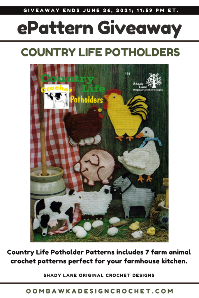 Country Life Potholders Shady Lane Pattern Review and Giveaway