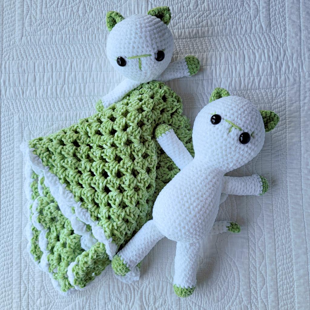 Crochet Kitten Lovey Blankie Pattern