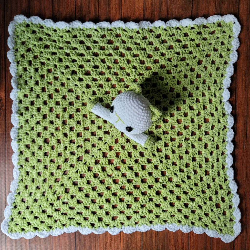 Crochet Kitten Baby Lovey Blankie Pattern ODC
