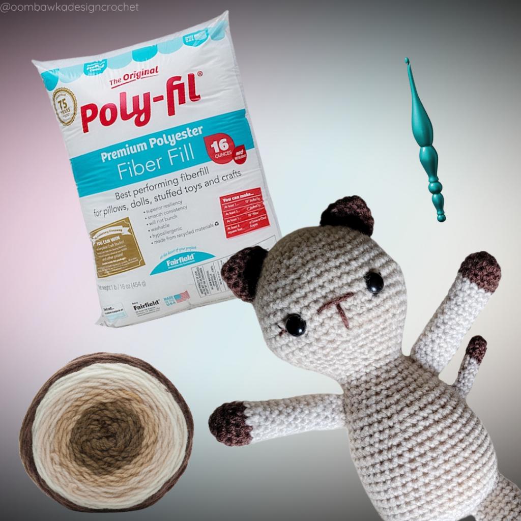 Crochet Kitten - Supplies 2021