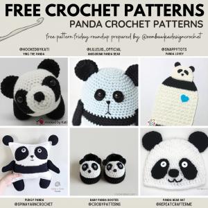 Crochet Panda Patterns - Free Pattern Friday