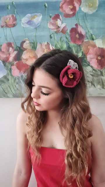 Crochet Poppy Flower - Link Party 404
