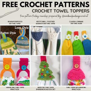 Crochet Towel Topper Patterns - Free Pattern Friday