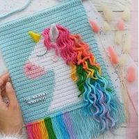 Crochet Unicorn Wall Hanging Pattern