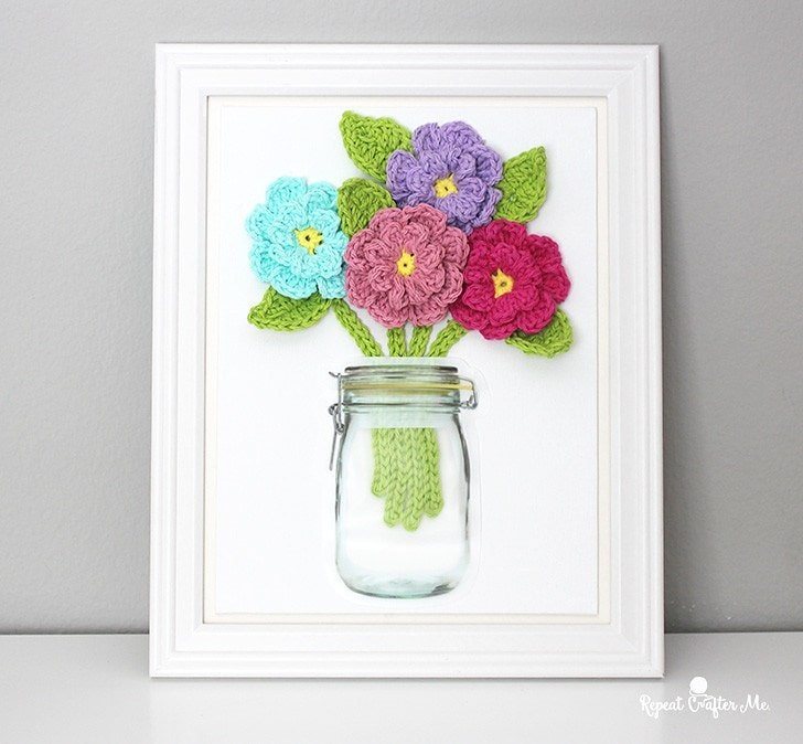 Flowers on Canvas - Free Pattern Friday