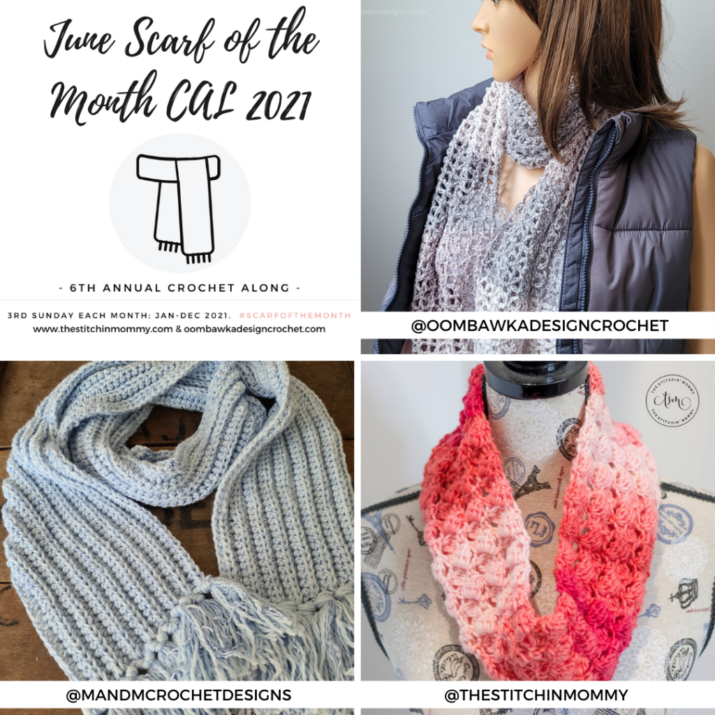 June Scarf of the Month CAL 2021 grid