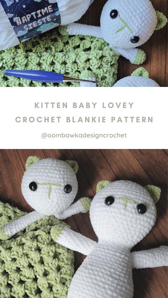 Kitten Baby Lovey - Crochet Blankie Pattern